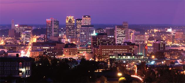 Birmingham, Alabama downtown skyline.