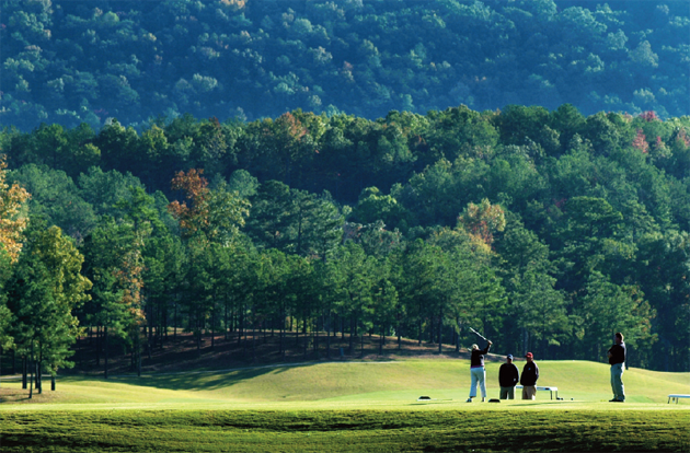 The Robert Trent Jones Golf Trail at Ross Bridge is one of the longest courses in the world, but offers multiple=