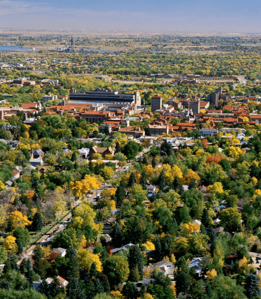 The University of Colorado at Boulder is one of the city's most distinctive features.