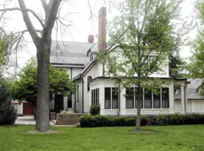 The home of an early mayor of Wichita, L. W. Clapp. Clapp developed the city's park system.