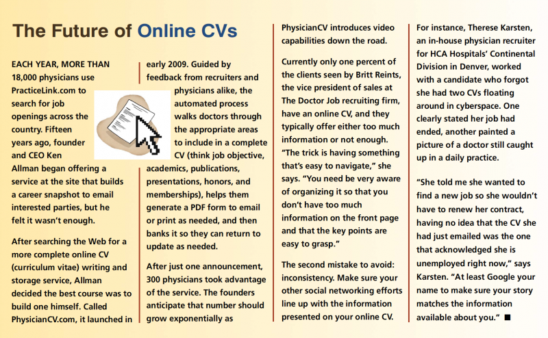 The future of online CVs
