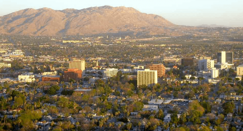 Box Springs Mountain, with its peak at 3,047 feet, towers over eastern Riverside to form the border between it and western Moreno Valley, another Inland Empire city.
