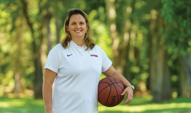 Katherine Coyner, M.D., is a team physician for several UConn teams, including women's basketball.