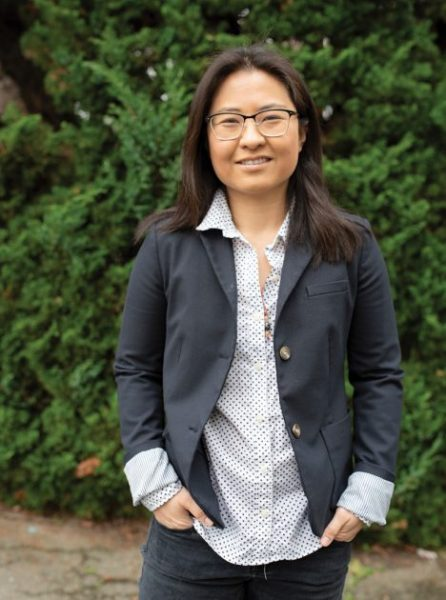 Ann Cheung, M.D., moved from the East Coast to the West for her pediatric residency in California.- Photo by Christian Erickson