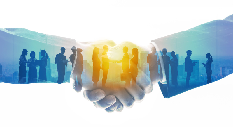 Group of people and communication network concept. Human resources. Teamwork of business. Partnership.