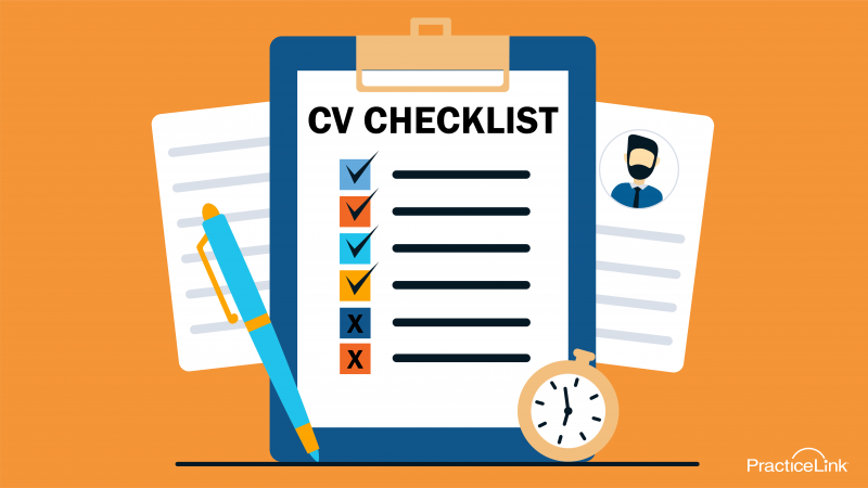 Follow this checklist when writing your CV